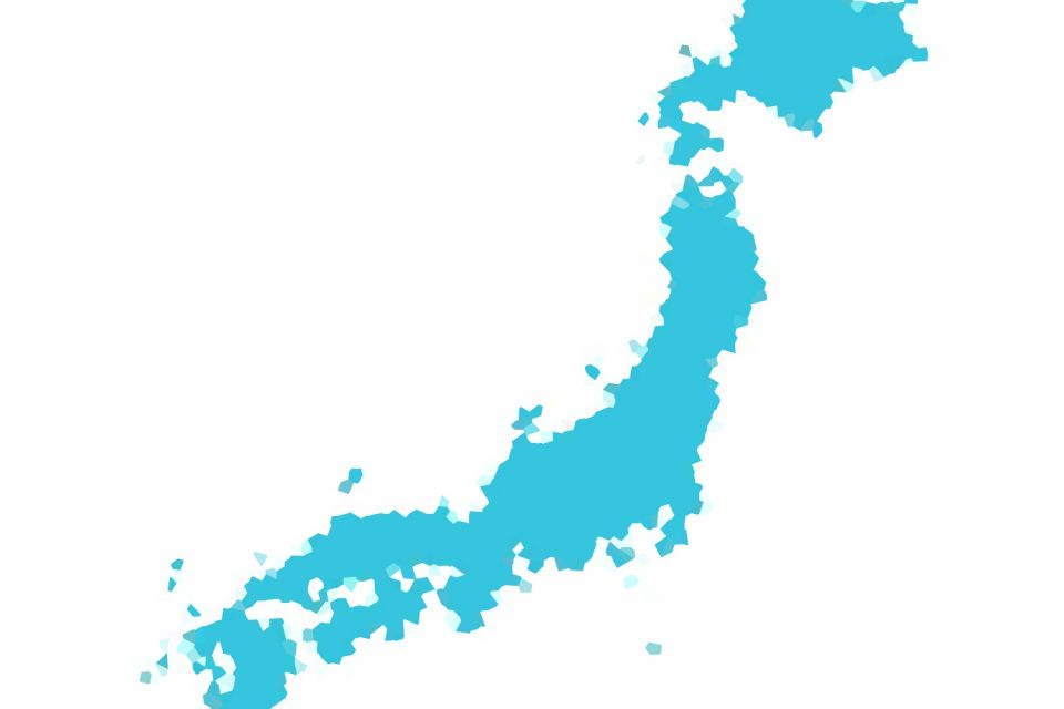 distorted map of japan