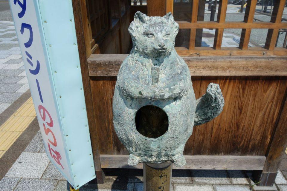Statue am Bahnhof Nyugawa