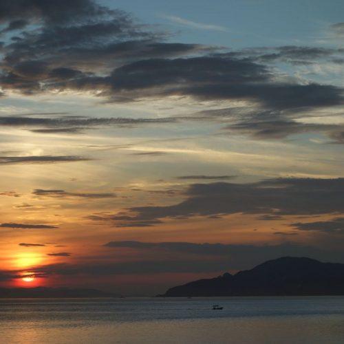 Sonnenuntergang am Hafen von Utazu #2