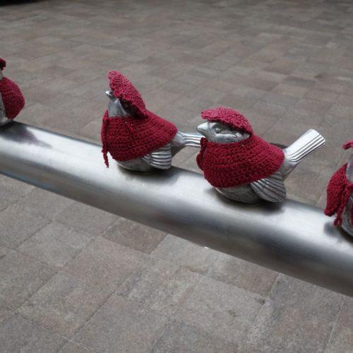 Kleine Vögelchen mit Anziehsachen #1