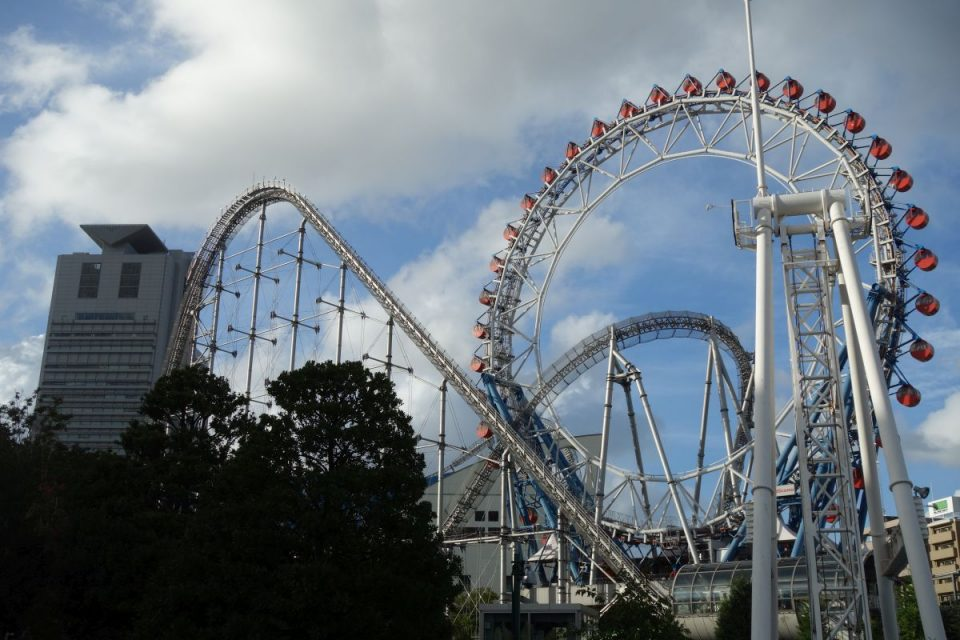Tokyo Dome City Big O Riesenrad und Thunder Dolphin Achterbahn #3