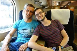 Zwei glückliche Männer