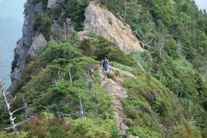 Bergkamm des Ishizuchi mit Sven